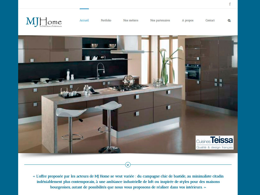 MJ HOME création site wordpress