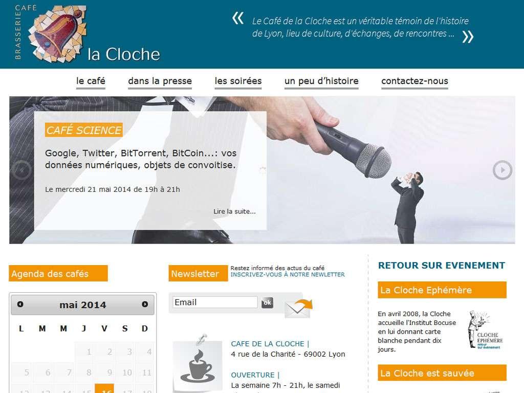 Café la Cloche Lyon Bellecour site wordpress