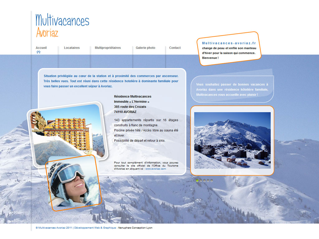 Multivacances Avoriaz site internet