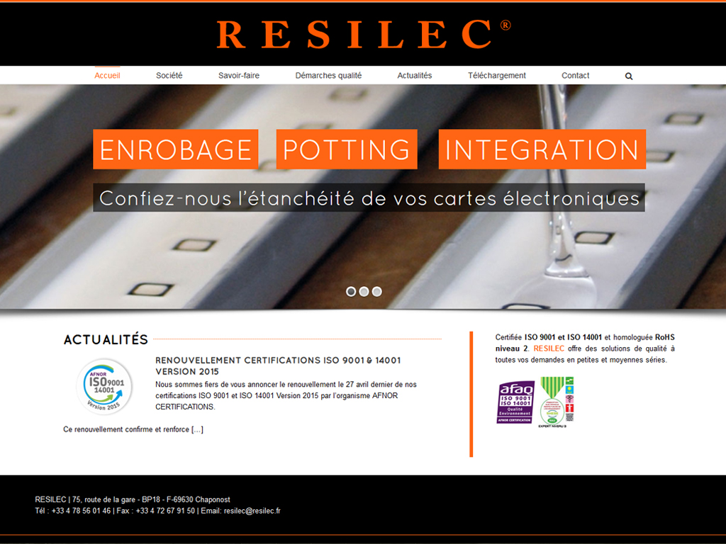 Resilec création site vitrine wordpress