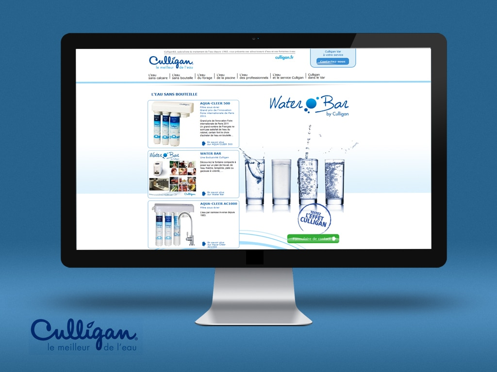 Culligan War, site internet vitrine