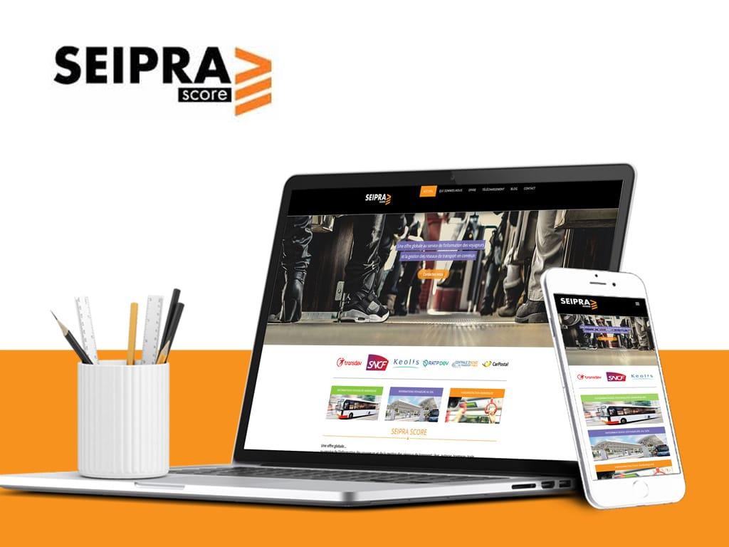 Seipra score refonte site internet, agence Adigone