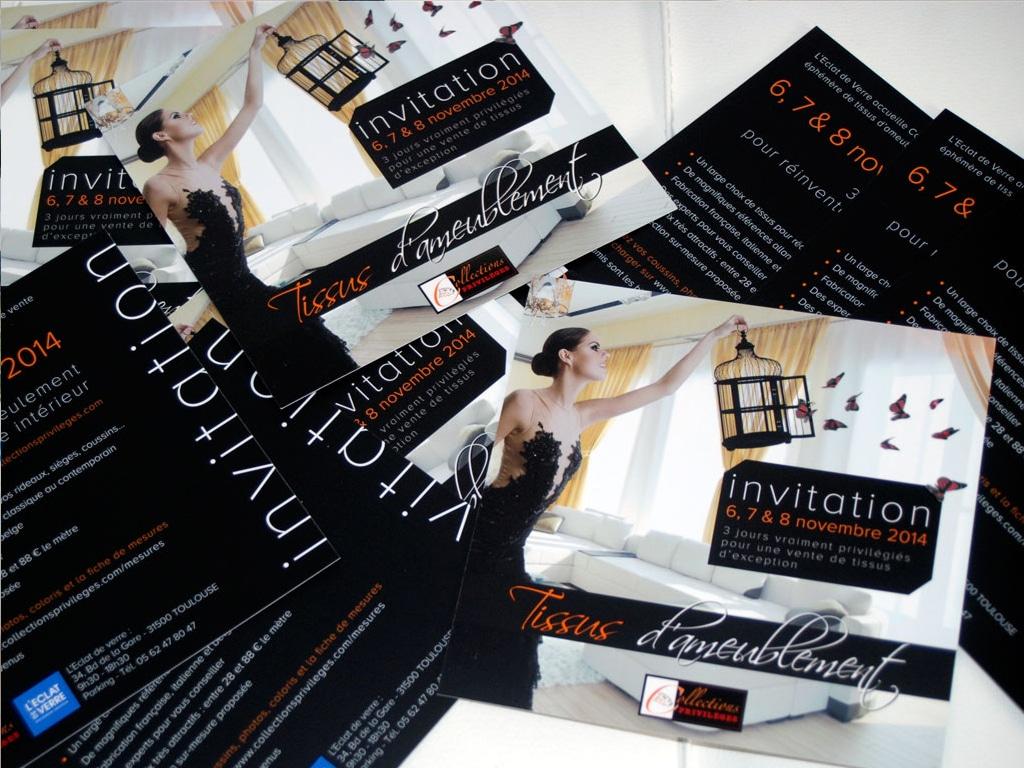 Collections privilèges carton invitation