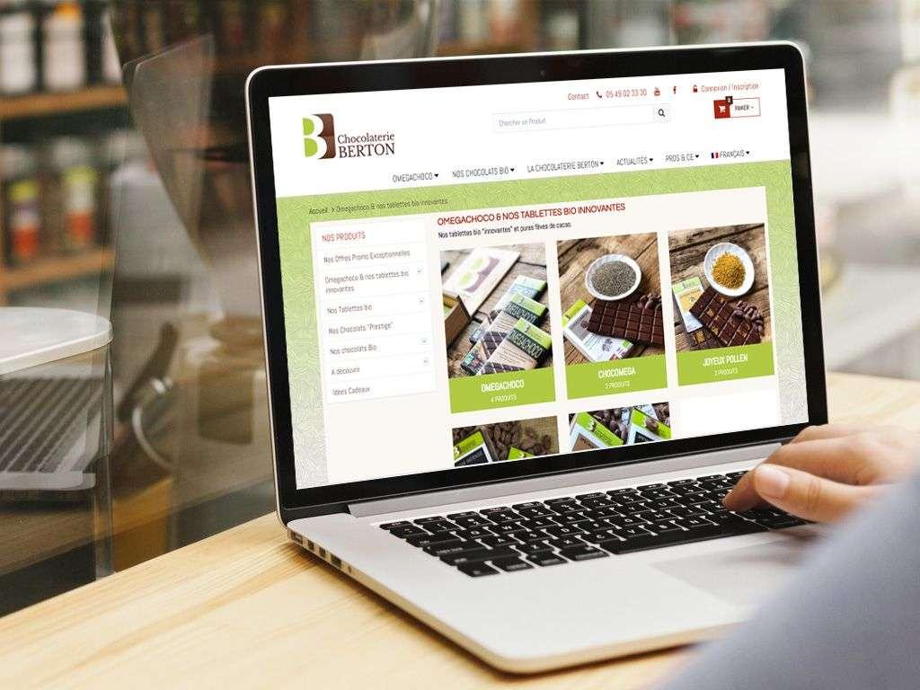 Berton chocolaterie - Boutique Woocommerce